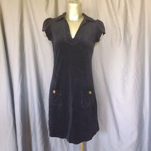 Juicy Couture Dark Blue Velour Mini Dress